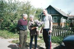 Брат Георгий (справа) с мамой и дядей Аликом