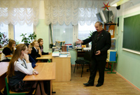 Виталий Юркин проводит Урок Мужества