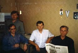 """Наш отдел в редакции """"Красной звезды"""". Справа Сергей Пашаев"""