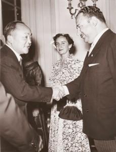 Григулевич и посол Коста-Рики