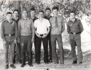 Александр Шелестов (в штатском), Александр Котов, я и ребята нашей типографии