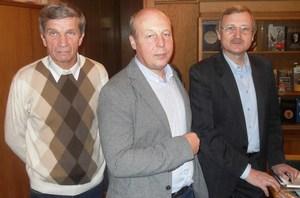 Слева направо: Юрий Галкин, Юрий Абрамов, Александр Манюгин